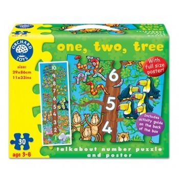 英國Orchard Toys 幼兒學習大拼圖 123 one,two,tree