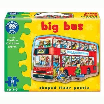 英國Orchard Toys 幼兒學習大拼圖 大巴士 Big Bus