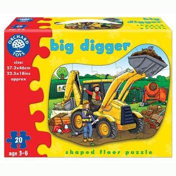 英國Orchard Toys 幼兒學習大拼圖 大挖土機 Big Digger