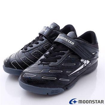 日本月星競速童鞋-創新改版足球款SSJ6706藍-(20cm-24cm)