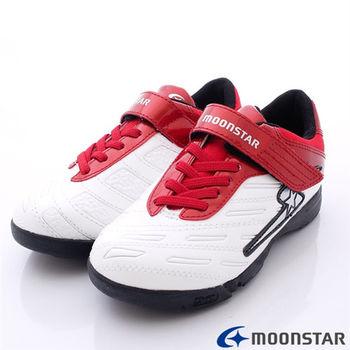 日本月星競速童鞋-撞色爆發足球款SSJ6701紅白-(20cm-24cm)