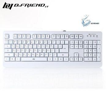 [ B.FRiEND ]  GK1  類機械式 防水遊戲鍵盤(彩盒包裝)-黑/白