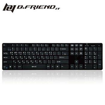 【B.FRIEND 】 BW1430 有線USB+ 藍芽二合一中文鍵盤 黑/白/銀 / 粉(BW-1430)