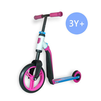 奧地利Scoot  Ride Highwaybuddy兒童滑步滑板平衡車-俏皮粉(3Y+)
