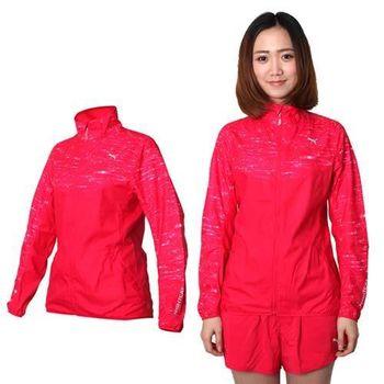 【PUMA】女款NIGHTCAT立領風衣外套 - 運動 慢跑 路跑 防風 桃紅銀
