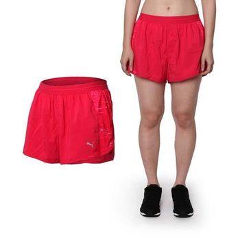 【PUMA】女款NIGHTCAT運動短褲 -運動 慢跑 路跑 瑜珈 桃紅銀 安全反光