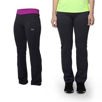 【PUMA】女款修身褲型運動長褲 -運動 慢跑 路跑 瑜珈 深灰紫  吸濕排汗