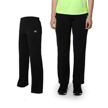 【MIZUNO】女瑜珈長褲- 美津濃 運動 瑜珈 黑白 吸濕排汗