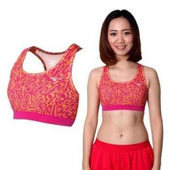 【MIZUNO】女運動內衣- 運動背心 BRA 美津濃 路跑 慢跑 瑜珈 橘紫 吸濕速乾