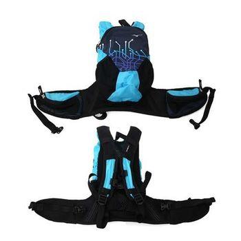 【MIZUNO】背包 -雙肩包 旅行包 後背包 登山 美津濃 丈青淺藍
