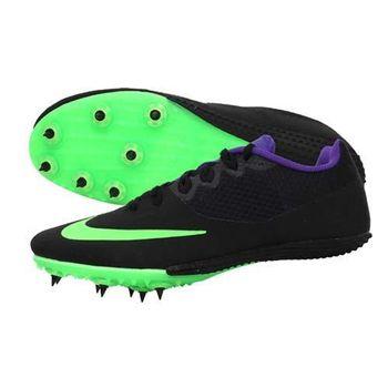 【NIKE】ZOOM RIVAL S 8 男女田徑釘鞋-短距離 跨欄 黑螢光綠