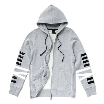NONAGON NN9N logo厚磅棉長袖帽T外套-韓國明星款-灰