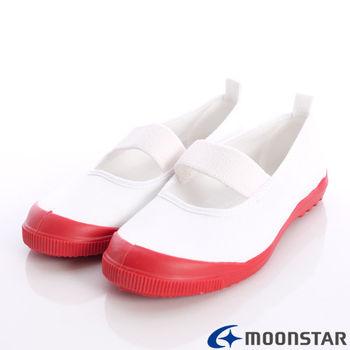 日本月星頂級童鞋-日本進口抗菌室內鞋-MS012紅-(17cm-21cm)