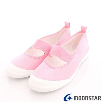日本月星頂級童鞋-日本進口抗菌室內鞋-MS1931粉-(16cm-22cm)