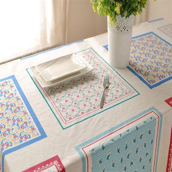 棉麻家紡布藝簡約田園手工小清新方格碎花餐桌布