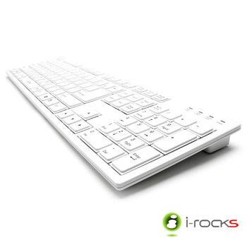 i-Rocks KR6431 全尺寸懸浮式巧克力鍵盤-白