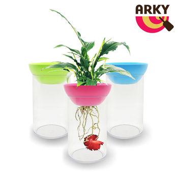 ARKY 魚草共生迷你圓柱生態缸