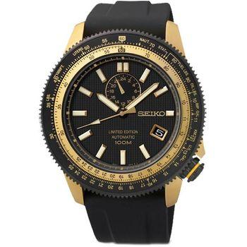 SEIKO 全台限量4R37 24石自動機械錶-黑(SSA192J1)