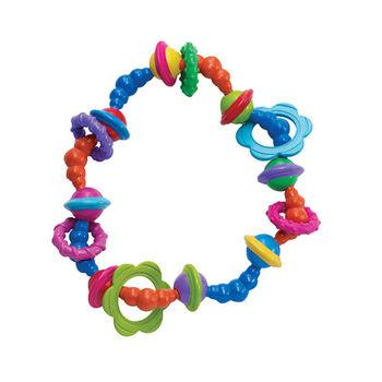 美國Manhattan Toy-彩虹伍奇扭扭固齒搖鈴
