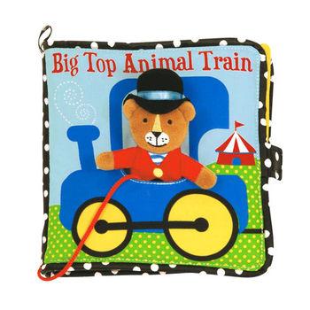 美國Manhattan Toy-動物火車軟布書