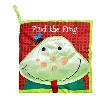美國Manhattan Toy-頑皮青蛙軟布書