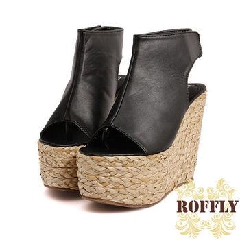 【ROFFLY蘿芙莉】2CI15B11-時尚性感高底夾腳楔型涼鞋