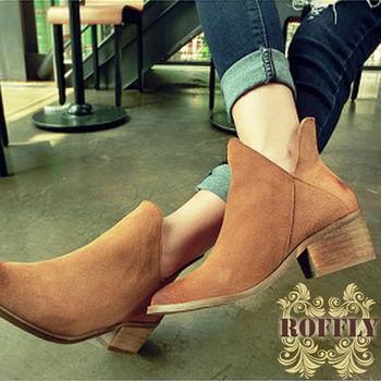 【ROFFLY蘿芙莉】2H15B14-俏皮小精靈低跟短靴/踝靴