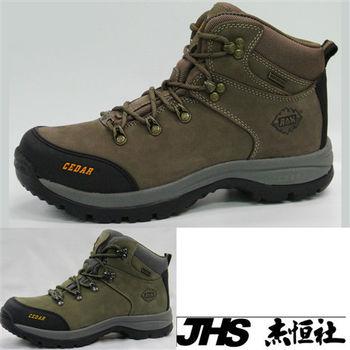 【JHS杰恆社】RAN款736牛皮防水戶外登山露營溯溪健走工裝機車鞋靴休閒皮鞋沙灘鞋(雪松CEDAR)