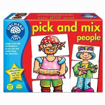 英國Orchard Toys 幼兒桌遊  Pick and mix people 人物服裝配對圖卡