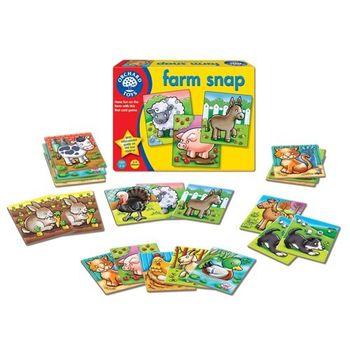 英國Orchard Toys 幼兒桌遊   farm snap 農場動物學習圖卡