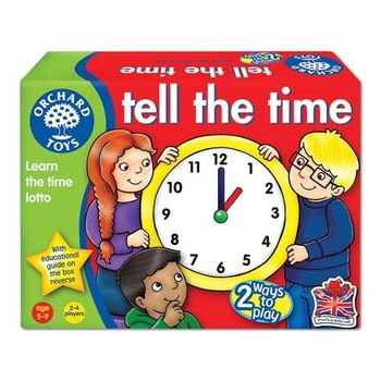 英國Orchard Toys 幼兒桌遊  Tell the Time 時間學習圖卡