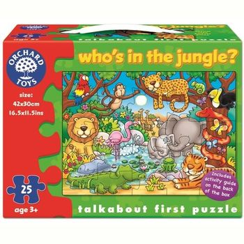 英國Orchard Toys 幼兒學習大拼圖 叢林動物 Whos in the jungle?