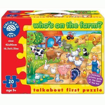 英國Orchard Toys 幼兒學習大拼圖 農場動物 Whos on the farm?