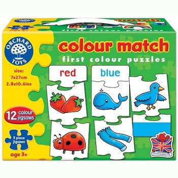 英國Orchard Toys 幼兒配對拼圖 顏色 colour match