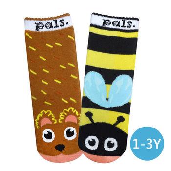 美國Pals Socks好夥伴寶寶襪-蜂蜜小熊(1-3Y)