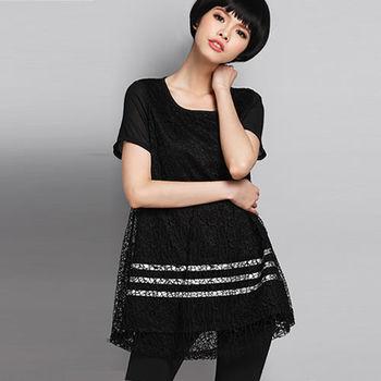 【麗質達人中大碼】鏤空網布上衣(XL-5XL)