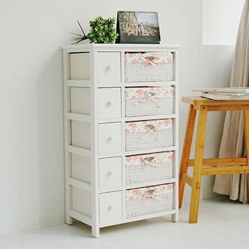 《舒適屋》田園風夢幻五層五抽收納櫃/儲物籃/置物櫃