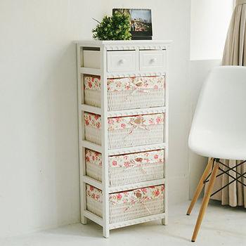 《舒適屋》田園風夢幻五層二抽收納櫃/儲物籃/置物櫃