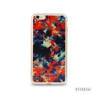 OVERDIGI CANVAS iPhone6 S  雙料全包覆保護殼 幾何彩格紅