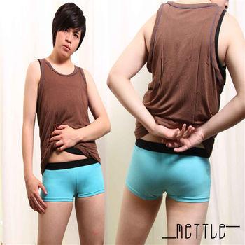 【METTLE】黑褲頭中性平口女內褲(藍)