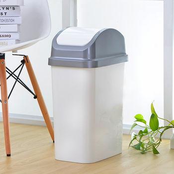 日本MAKINOU日系簡約掀蓋式25L紙簍/垃圾桶-超值2入組