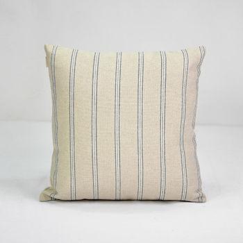【協貿】簡約復古懷舊條紋亞麻沙發方形抱枕含芯