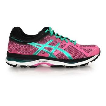 【ASICS】GEL-CUMULUS 17 女慢跑鞋- 路跑 亞瑟士 桃紅湖水綠