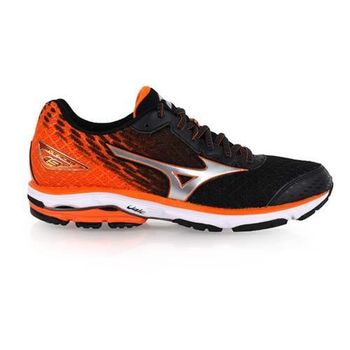 【MIZUNO】WAVE RIDER 19 男慢跑鞋-慢跑 路跑 美津濃 橘黑