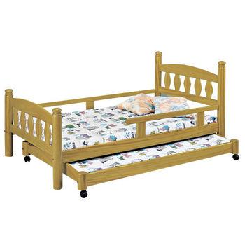 【時尚屋】[G16]烏心石3.8尺子母床G16-082-3不含床墊
