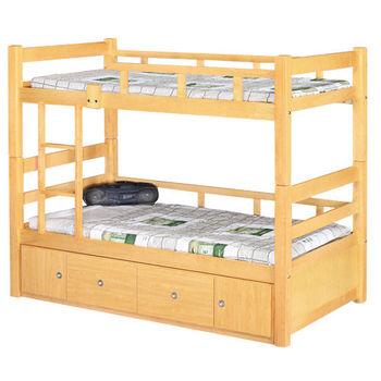 【時尚屋】[G16]白楓木3.7尺雙層床G16-078-1不含床墊