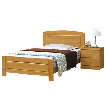 【時尚屋】[G16]白楓木3.7尺加大單人床G16-071-1不含床頭櫃-床墊