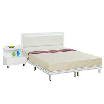 【時尚屋】[G16]珍珠3.5尺純白加大單人床G16-069-9+069-10不含床頭櫃-床墊