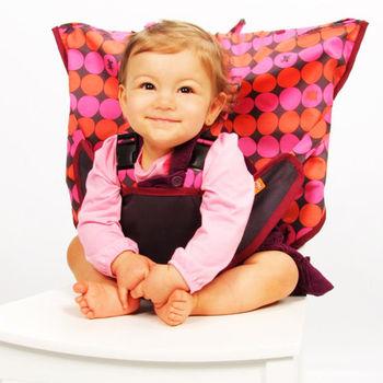 美國My Little Seat可攜式嬰兒安全座椅套--熱情點點