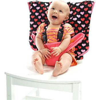 美國My Little Seat可攜式嬰兒安全座椅套-粉紅愛心